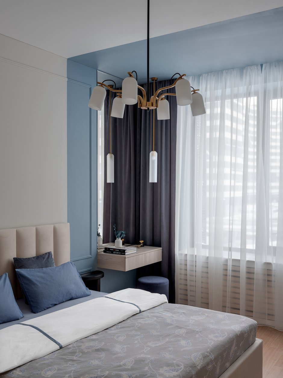 Фотография: Спальня в стиле Минимализм, Современный, Квартира, Проект недели, Москва, 1 комната, 40-60 метров, Светлана Пичугина – фото на INMYROOM