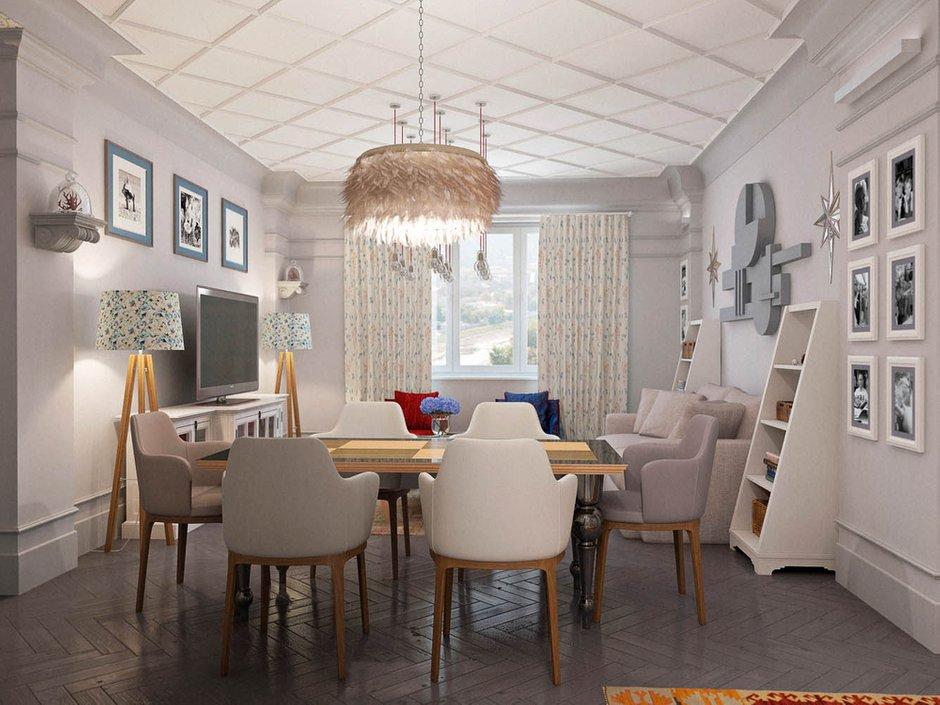 Фотография: Кухня и столовая в стиле Современный, Эклектика, Классический, Квартира, Проект недели – фото на INMYROOM
