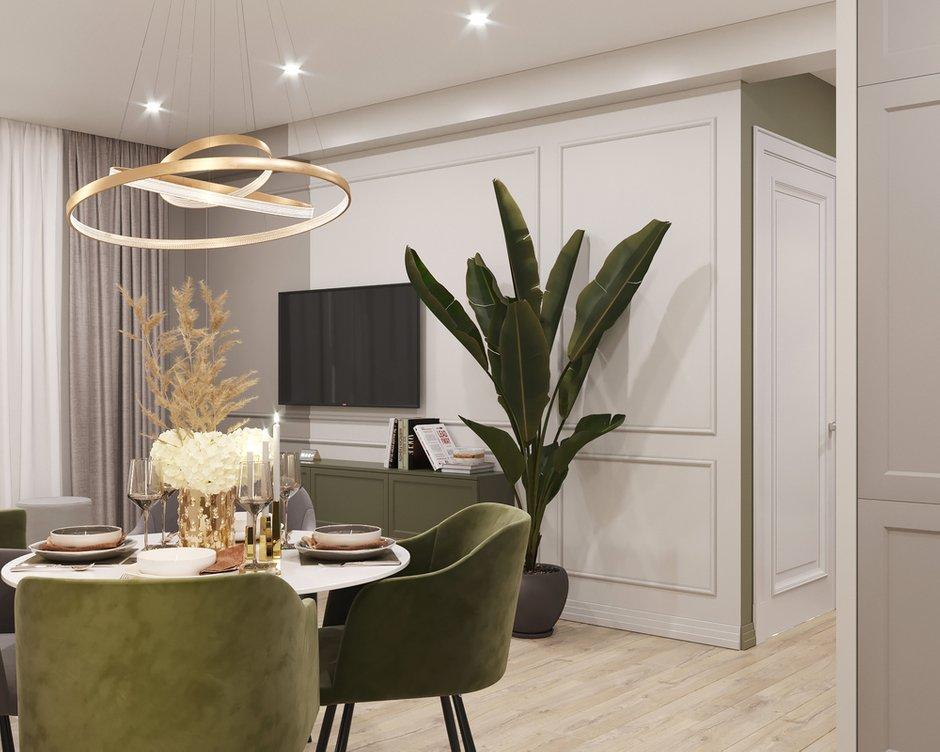 Фотография: Кухня и столовая в стиле Современный, Прихожая, Квартира, Проект недели, Москва, 2 комнаты, 40-60 метров – фото на INMYROOM