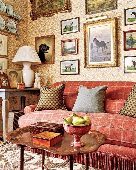 Фотография: Гостиная в стиле Прованс и Кантри, Классический, Декор интерьера, Декор дома, Картины – фото на INMYROOM