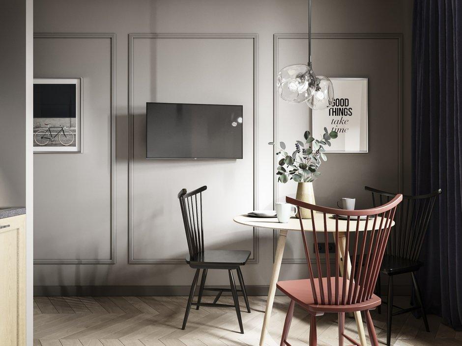 Фотография: Кухня и столовая в стиле Современный, Малогабаритная квартира, Квартира, Проект недели, «Атмосфера», Монолитный дом, 1 комната, до 40 метров, Алена Еременко, Ярославль, ПРЕМИЯ INMYROOM – фото на INMYROOM