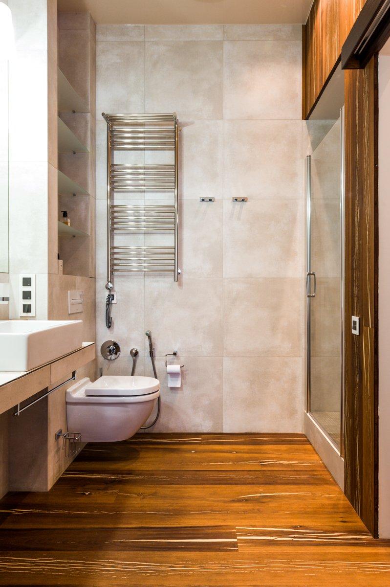 Фотография: Ванная в стиле Современный, Квартира, Проект недели, Подмосковье, Более 90 метров, Buro 19.23, Коттеджный поселок «Опушкино» – фото на INMYROOM