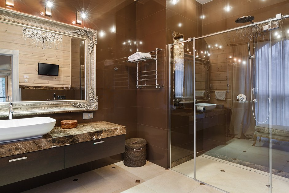 Фотография: Ванная в стиле Эклектика, Классический, Дом, Дома и квартиры, Проект недели, Дача – фото на INMYROOM