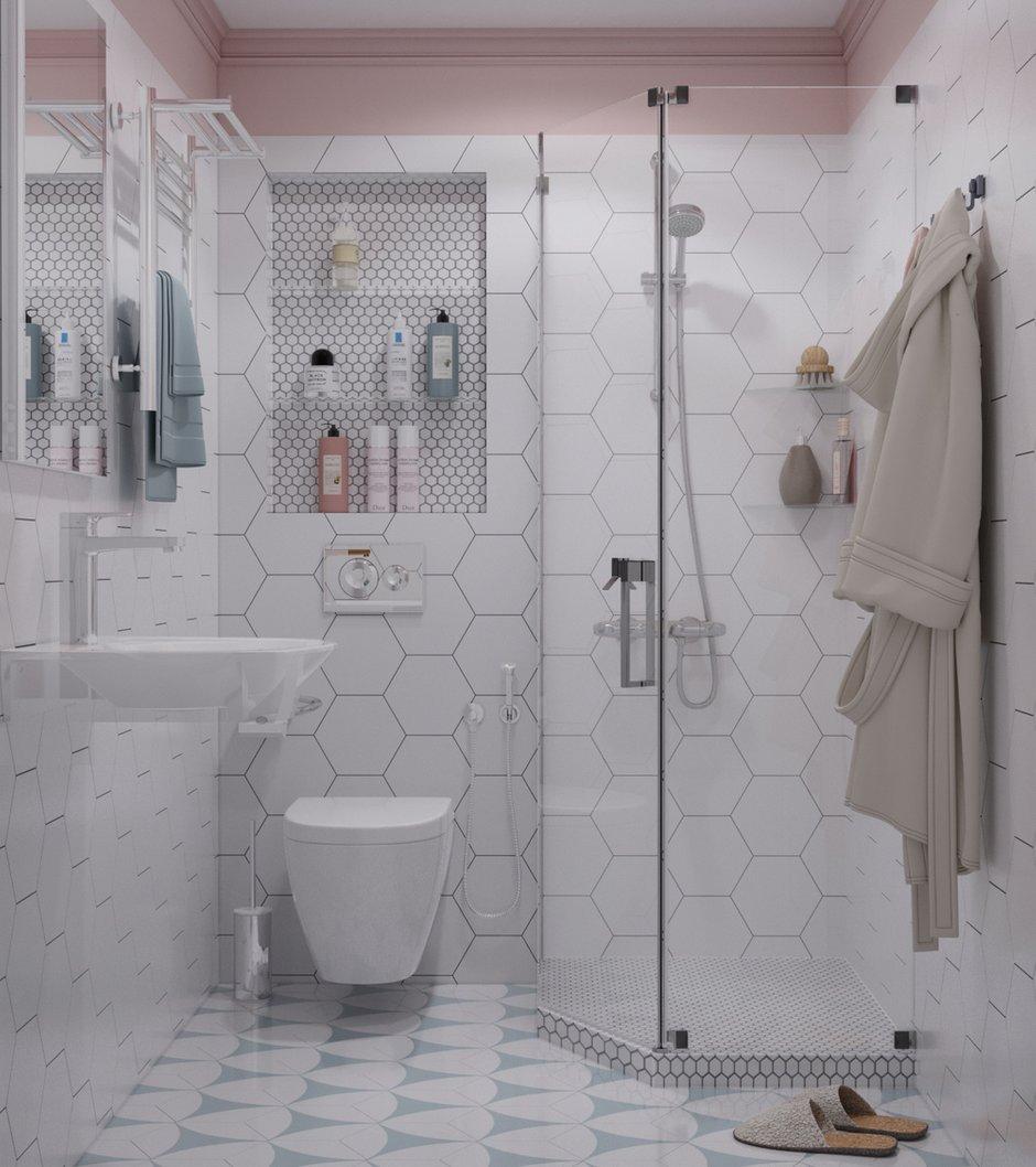 Фотография: Ванная в стиле Современный, Белый, Проект недели, Серый, Таунхаус, Более 90 метров, ПРЕМИЯ INMYROOM – фото на INMYROOM