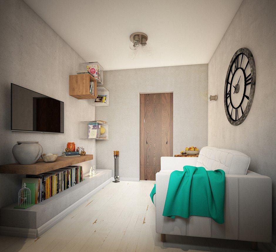 Фотография: Гостиная в стиле Лофт, Малогабаритная квартира, Квартира, Московская область, II-49, Панельный дом, 2 комнаты, 40-60 метров, Диана Пономарева – фото на INMYROOM