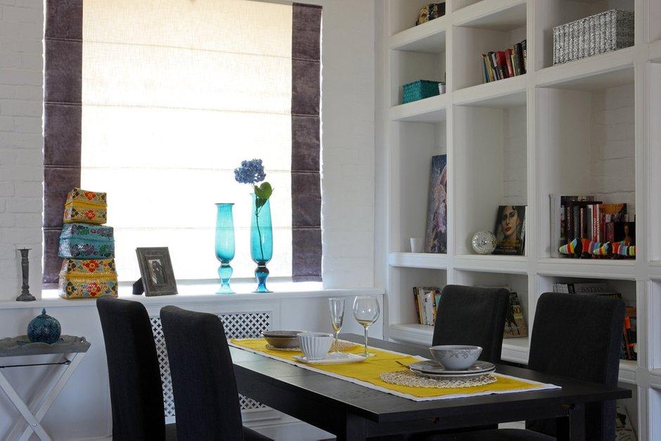 Фотография: Кухня и столовая в стиле Современный, Квартира, Мебель и свет, Цвет в интерьере, Дома и квартиры, Белый, Перепланировка, Москва, Екатерина Блохина – фото на INMYROOM