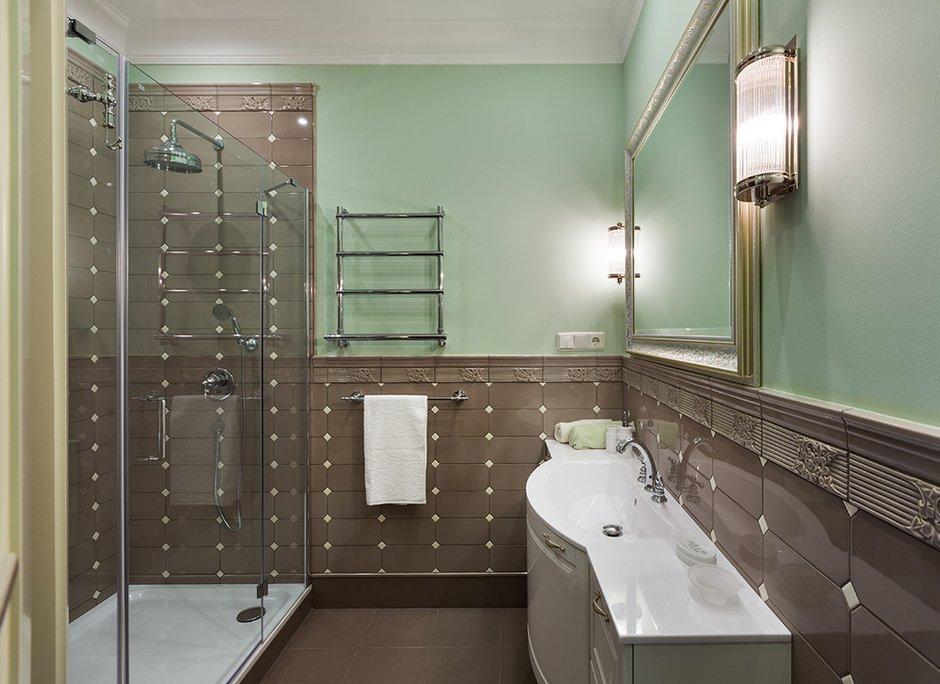 Фотография: Ванная в стиле Прованс и Кантри, Классический, Эклектика, Квартира, Дома и квартиры – фото на INMYROOM