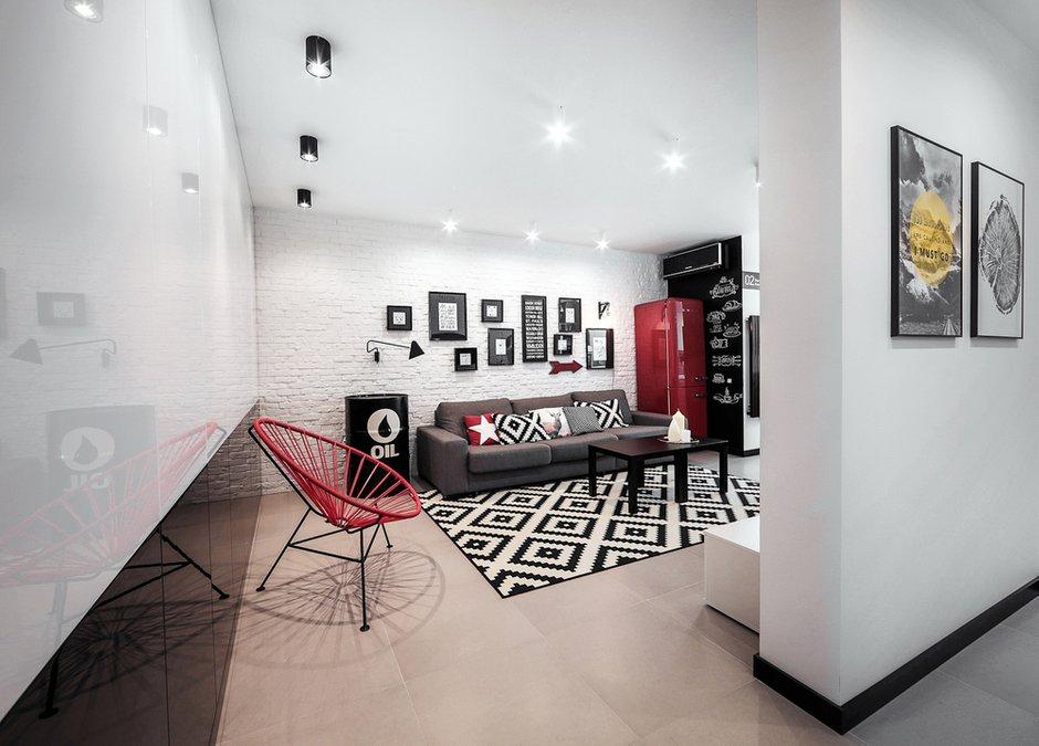 Фотография: Гостиная в стиле Лофт, Современный, Квартира, Дома и квартиры, IKEA, Минимализм, Проект недели – фото на INMYROOM