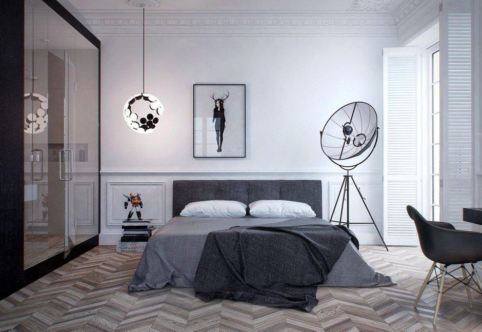 Фотография: Спальня в стиле Лофт, Современный, Скандинавский, Квартира, Минимализм, Проект недели – фото на INMYROOM