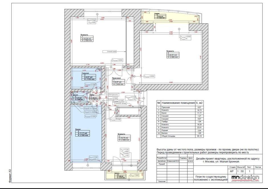 Фотография: Планировки в стиле , Квартира, Минимализм, Проект недели, Михаил Новинский, Кирпичный дом, 3 комнаты, 60-90 метров, Патриаршие пруды – фото на INMYROOM