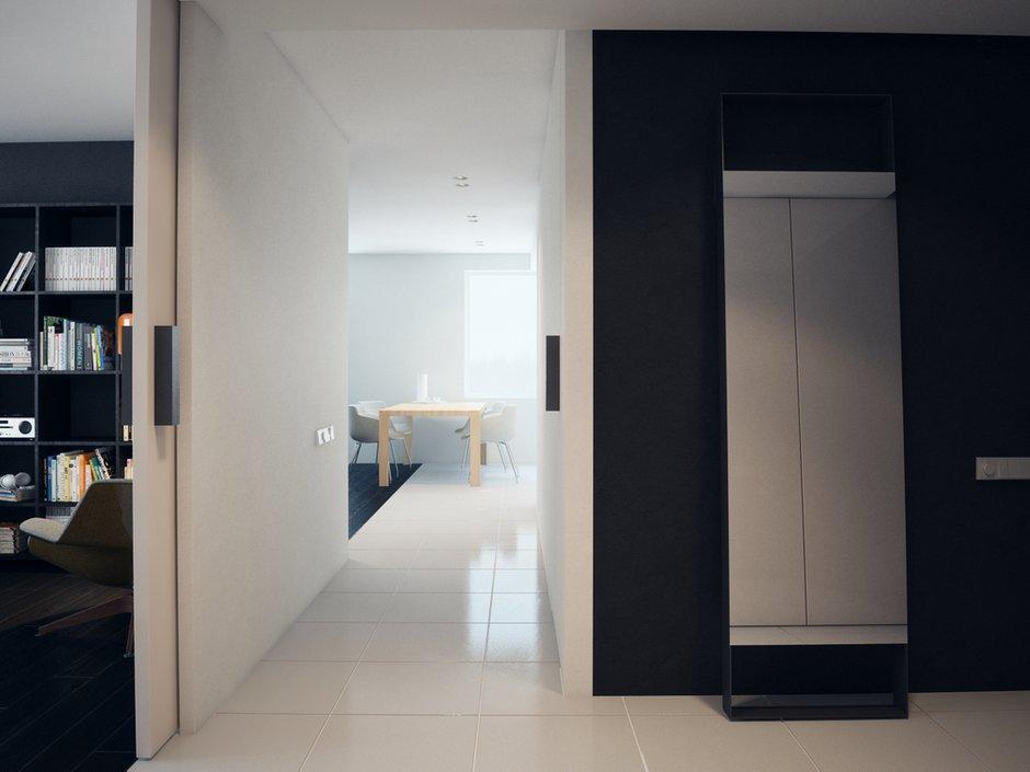 Фотография: Прихожая в стиле Современный, Хай-тек, Квартира, Дома и квартиры, Минимализм – фото на INMYROOM