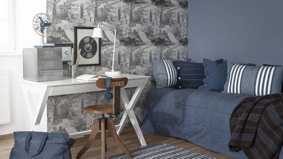 Фотография: Офис в стиле Классический, Современный, Эклектика, Декор интерьера, Дизайн интерьера, Цвет в интерьере, Обои, Стены, Эко – фото на InMyRoom.ru