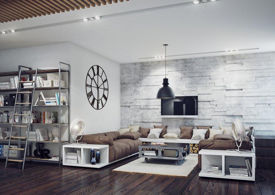 Фотография: Гостиная в стиле Лофт, Современный, Декор интерьера, Квартира, Декор, Мебель и свет, Проект недели – фото на INMYROOM