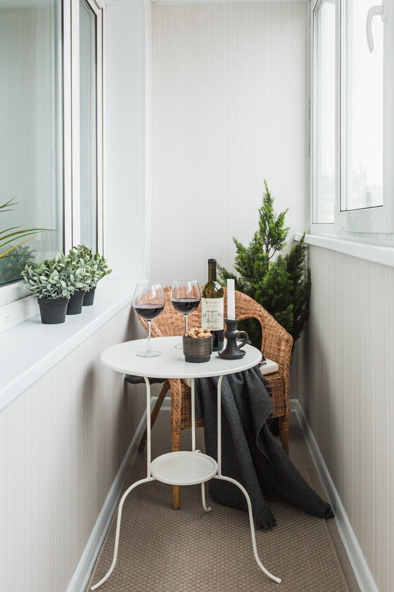 Фотография: Балкон в стиле Скандинавский, Квартира, Проект недели, Москва, ИКЕА, Анна Ковальченко, Кирпичный дом, 1 комната, до 40 метров – фото на INMYROOM