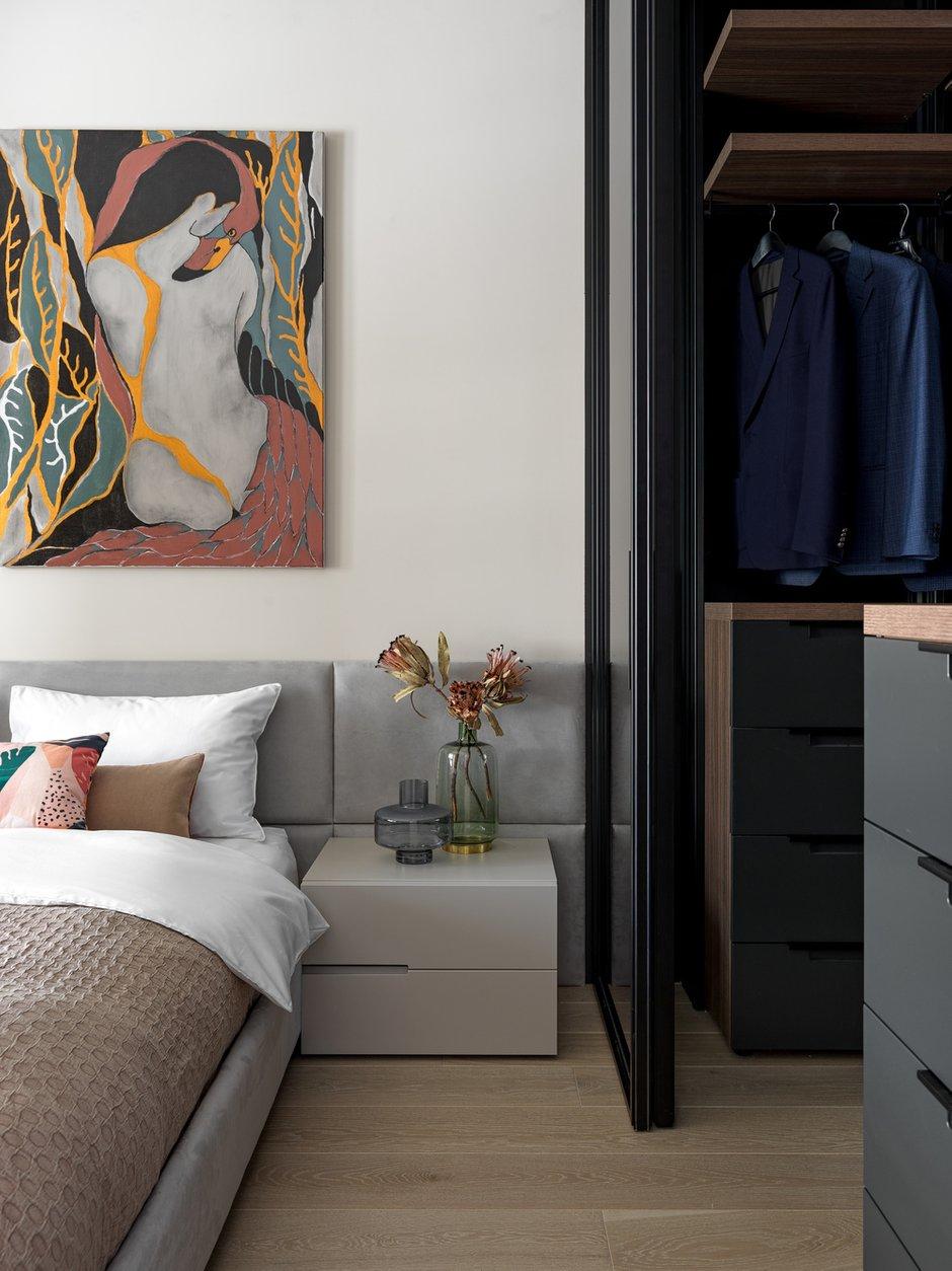 Фотография: Спальня в стиле Современный, Квартира, Проект недели, Москва, 4 и больше, Более 90 метров, ТУДА – фото на INMYROOM