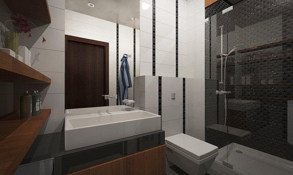 Фотография: Ванная в стиле Современный, Квартира, BoConcept, Дома и квартиры, IKEA, Москва, Dulux – фото на INMYROOM