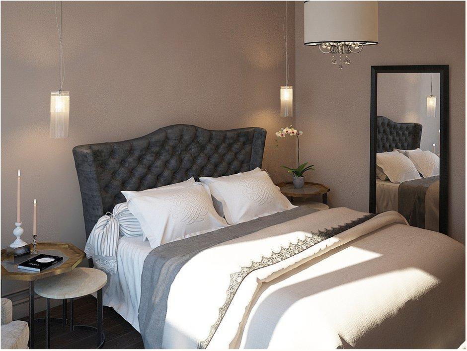 Фотография: Спальня в стиле Прованс и Кантри, Эклектика, Квартира, Цвет в интерьере, Дома и квартиры, Проект недели, Серый – фото на INMYROOM