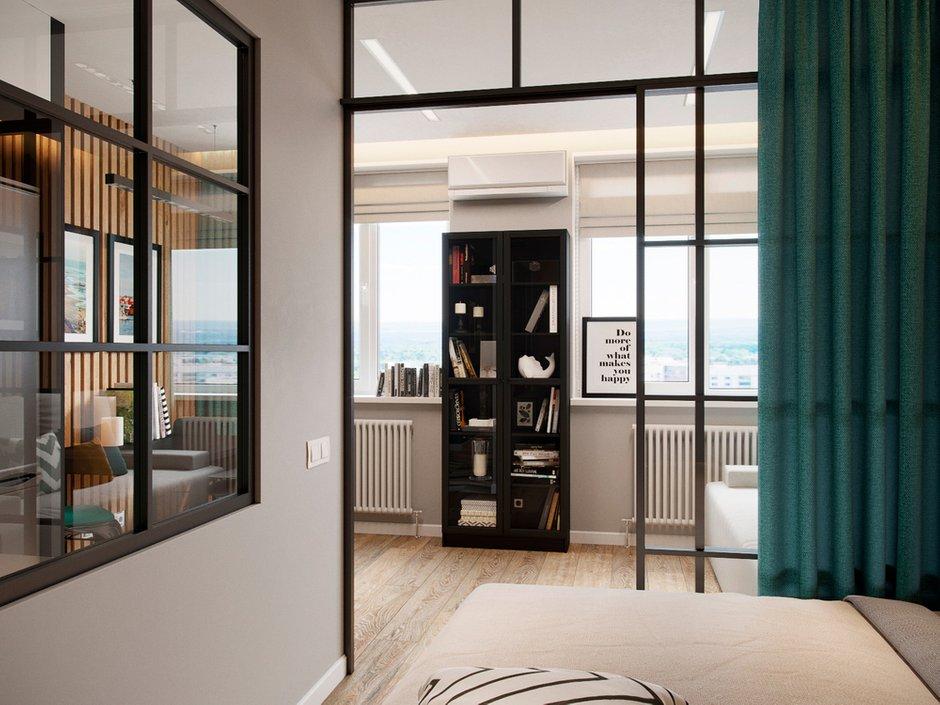 Фотография: Спальня в стиле Современный, Квартира, Проект недели, Красногорск, Legrand, 1 комната, до 40 метров, Майя Валит, Etika, путешественник – фото на INMYROOM