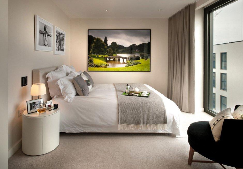 Фотография: Спальня в стиле Скандинавский, Современный, Квартира, Дома и квартиры – фото на INMYROOM