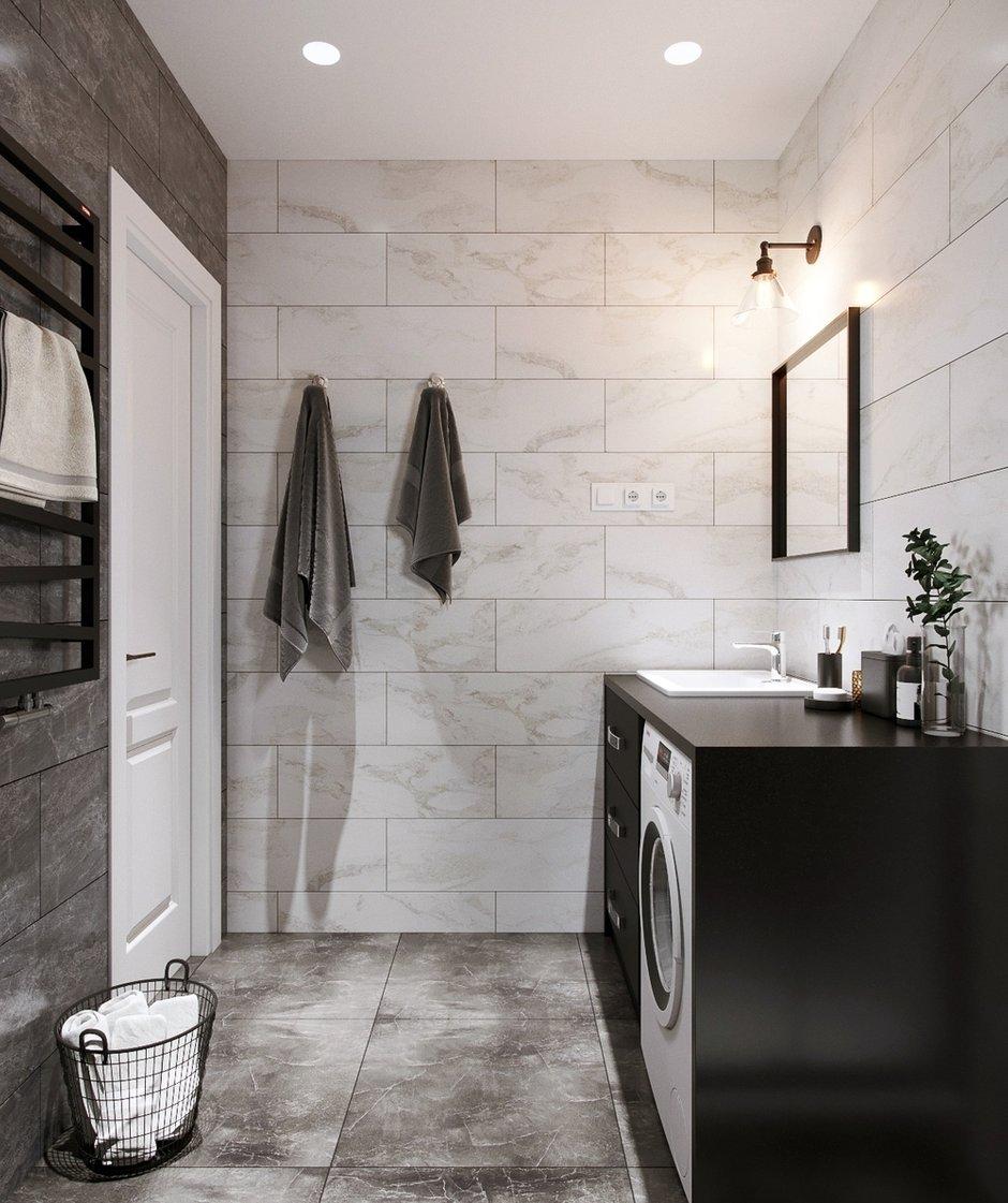 Фотография: Ванная в стиле Современный, Квартира, Проект недели, Красногорск, Legrand, 1 комната, до 40 метров, Майя Валит, Etika, путешественник – фото на INMYROOM