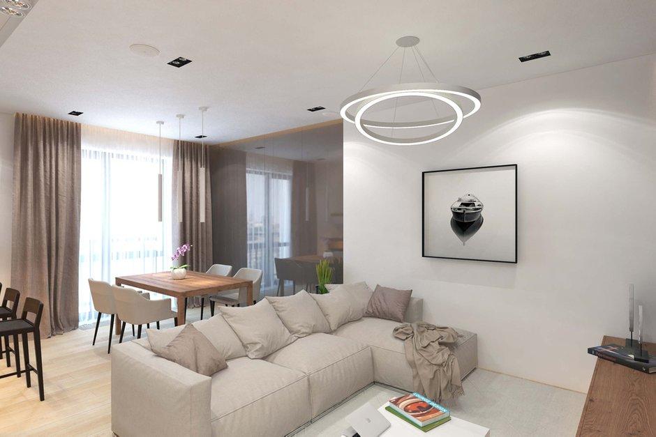 Фотография: Гостиная в стиле Современный, Минимализм, Квартира, Проект недели, Geometrium – фото на INMYROOM