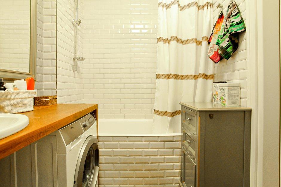 Фотография: Ванная в стиле Лофт, Скандинавский, Современный, Квартира, Проект недели – фото на INMYROOM