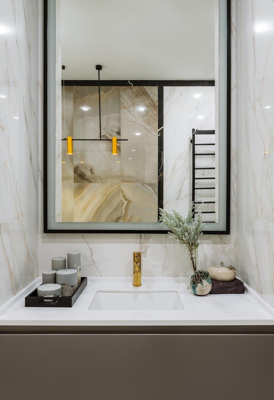 Фотография: Ванная в стиле Современный, Квартира, Проект недели, Москва, 2 комнаты, 40-60 метров, Ксения Коновалова – фото на INMYROOM