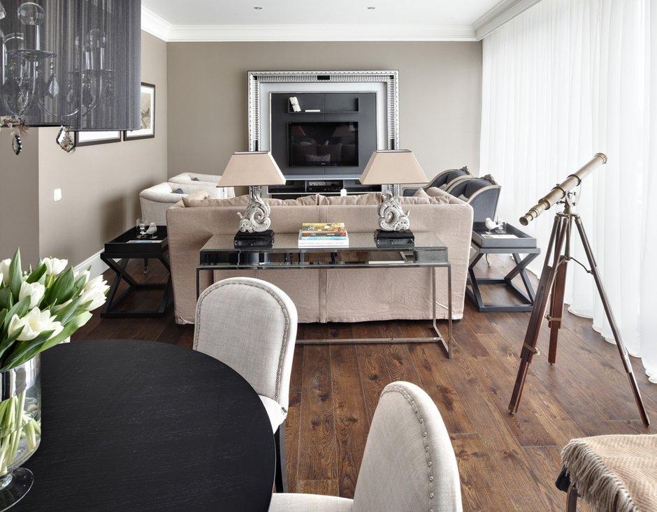 Фотография: Гостиная в стиле Современный, Квартира, Текстиль, Дома и квартиры – фото на INMYROOM