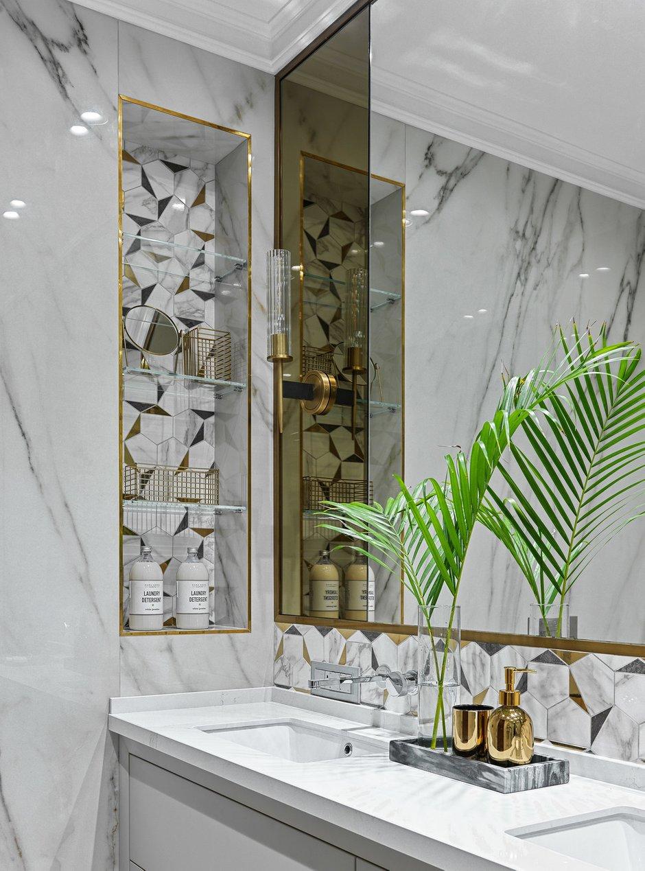 Фотография: Ванная в стиле Современный, Квартира, Проект недели, Москва, Мария Рублева, 4 и больше, Более 90 метров, #эксклюзивныепроекты – фото на INMYROOM