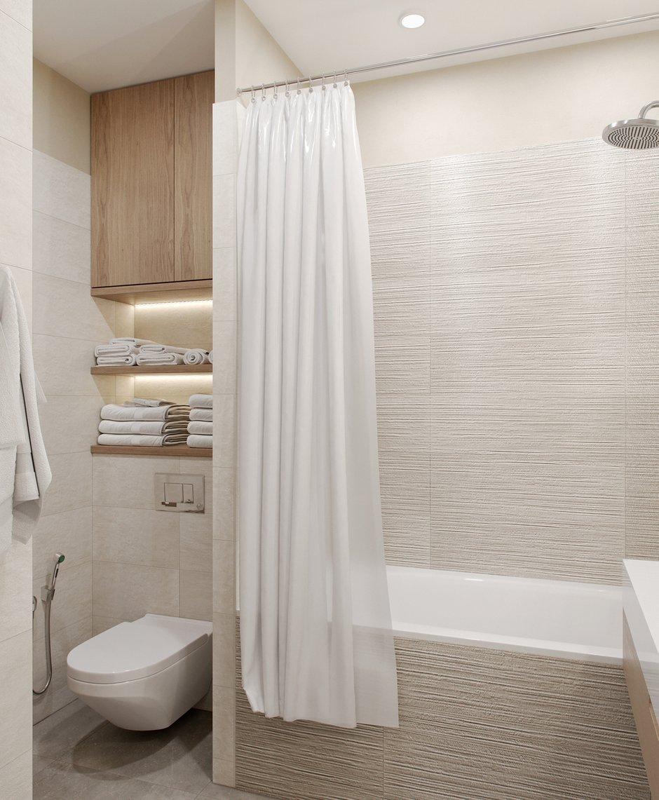 Фотография: Ванная в стиле Современный, Квартира, Проект недели, Москва, Светлана Старцева, 3 комнаты, Более 90 метров – фото на INMYROOM