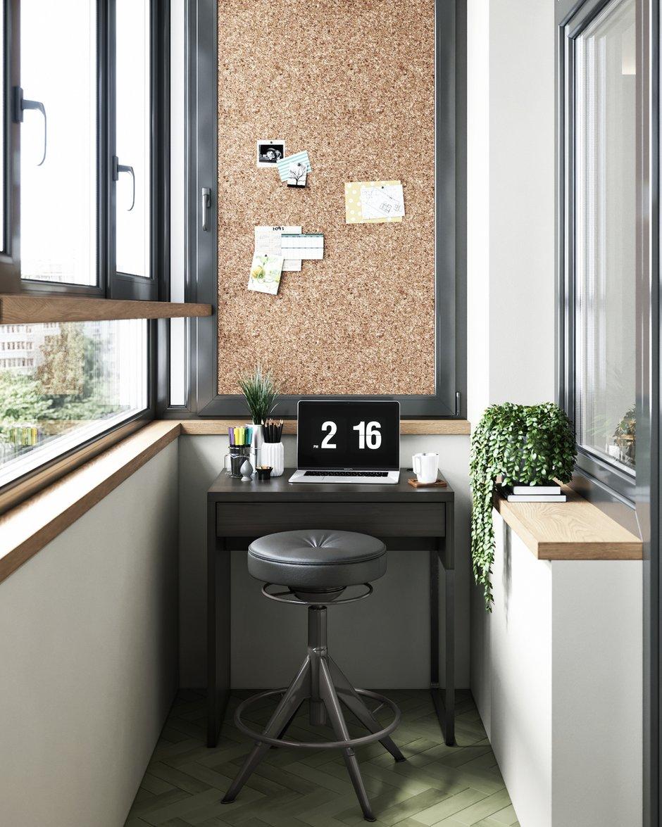 Фотография: Балкон в стиле Эклектика, Квартира, Проект недели, Москва, ToTaste Studio, 3 комнаты, 60-90 метров – фото на INMYROOM