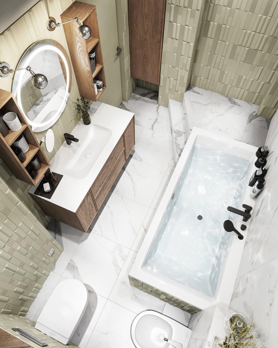 Фотография: Ванная в стиле Современный, Эклектика, Квартира, Проект недели, Санкт-Петербург, ToTaste, 3 комнаты, Более 90 метров – фото на INMYROOM