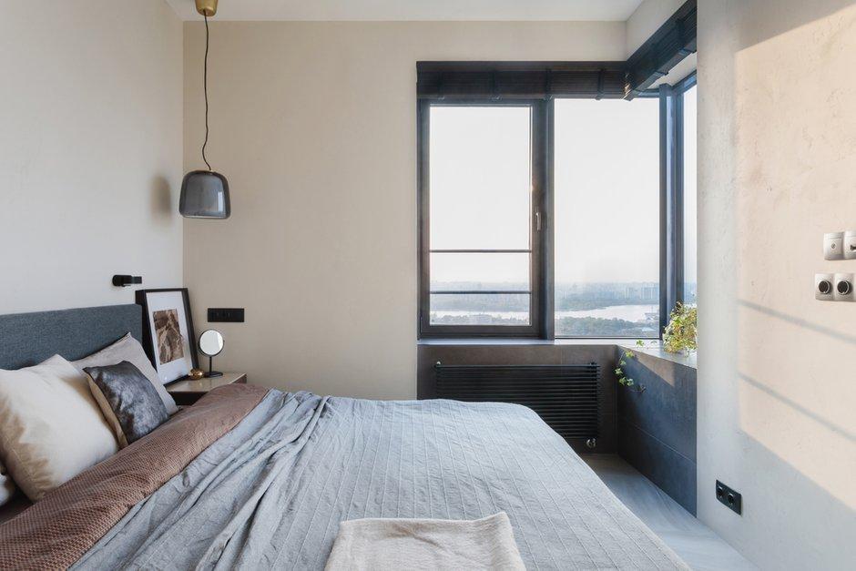Фотография: Спальня в стиле Современный, Квартира, Минимализм, Проект недели, Москва, 3 комнаты, 40-60 метров, Валерия Москалева – фото на INMYROOM