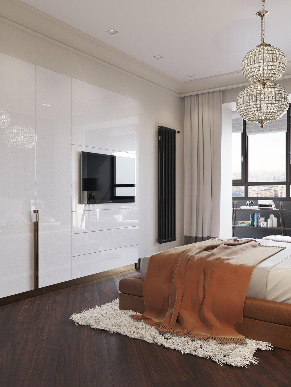 Фотография: Спальня в стиле Современный, Классический, Квартира, Проект недели, Москва, Айя Лисова, ЖК «Фортепиано» – фото на INMYROOM
