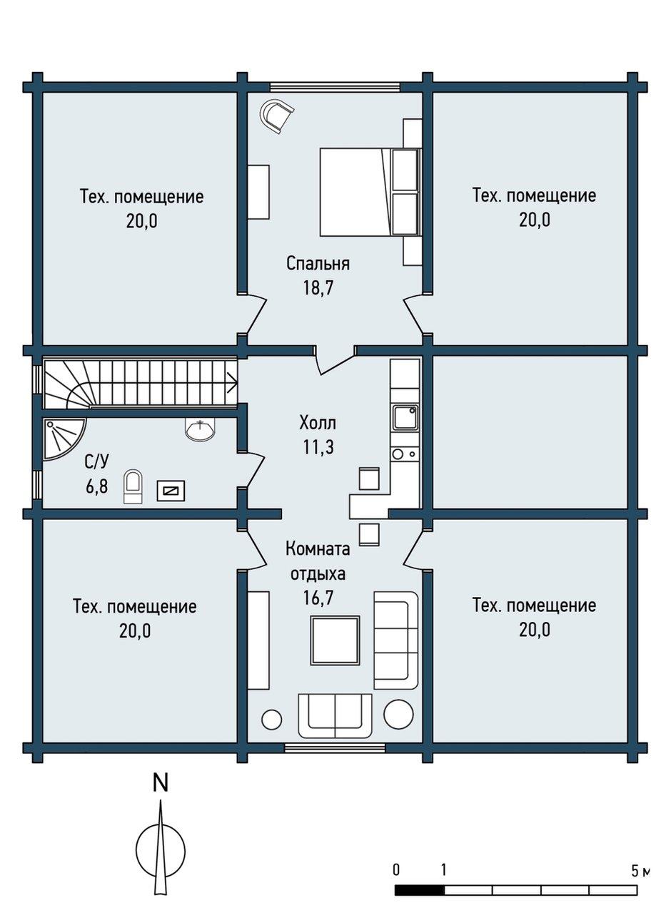 Фотография: Прочее в стиле , Дом, Дома и квартиры, Проект недели, Дача, dom-iz-brusa – фото на INMYROOM