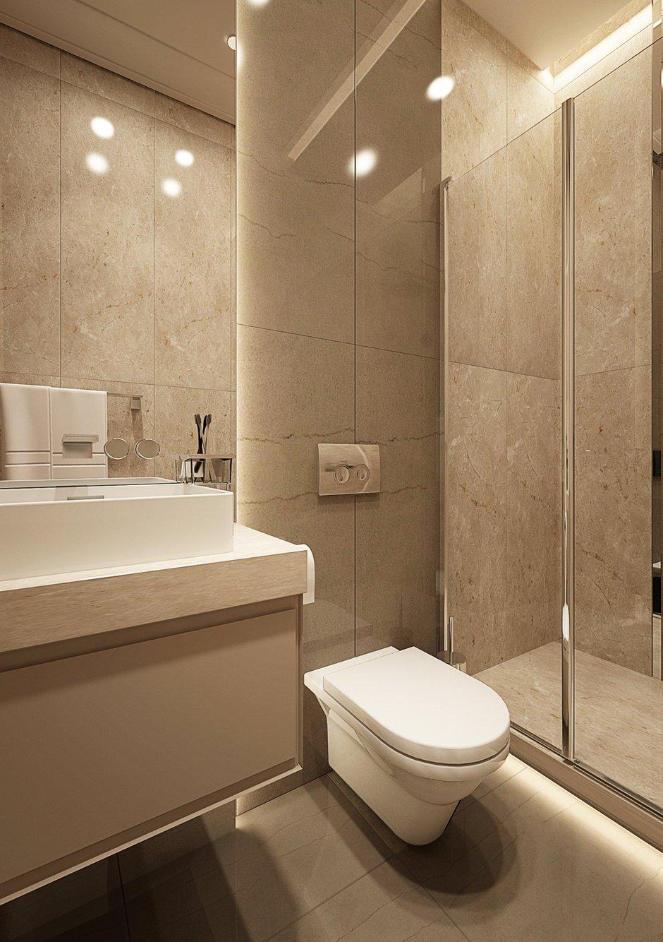 Фотография: Ванная в стиле Современный, Квартира, Проект недели, Москва, Beindesign, ЖК «Резиденция Монэ» – фото на INMYROOM