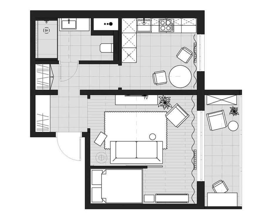 Фотография:  в стиле , Лофт, Эклектика, Квартира, Проект недели, Челябинск, 1 комната, до 40 метров, 40-60 метров, Tenso Interiors – фото на INMYROOM