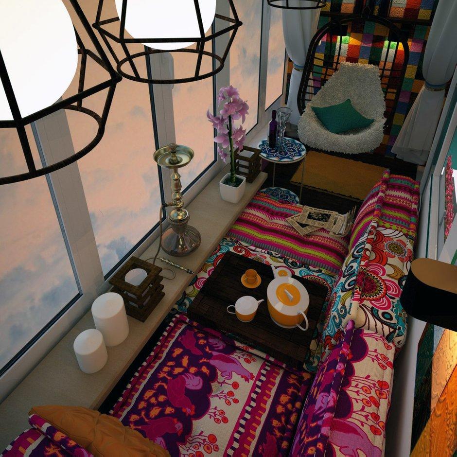 Фотография: Балкон, Терраса в стиле Восточный, Интерьер комнат – фото на INMYROOM