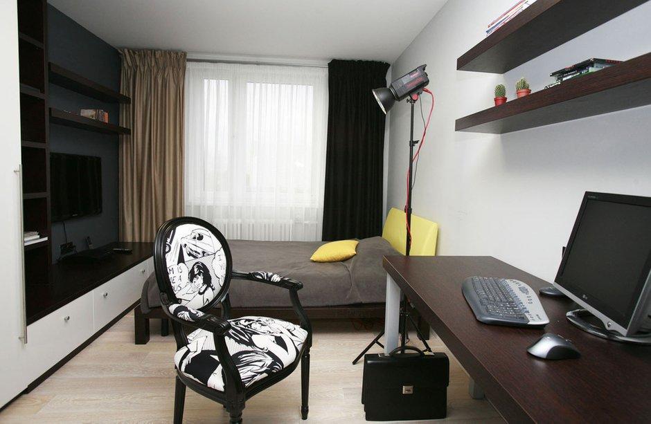 Фотография: Спальня в стиле Эклектика, Квартира, Дома и квартиры, Перепланировка, Ремонт – фото на INMYROOM
