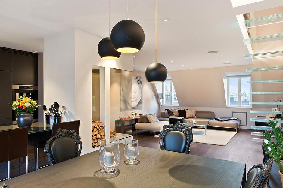 Фотография: Кухня и столовая в стиле Современный, Квартира, Швеция, Дома и квартиры, Пентхаус, Стокгольм – фото на INMYROOM