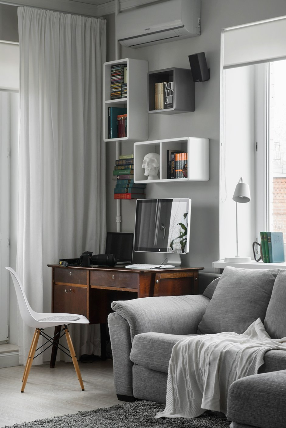 Фотография: Гостиная в стиле Современный, Малогабаритная квартира, Квартира, Дома и квартиры, IKEA, Проект недели, Хрущевка – фото на INMYROOM