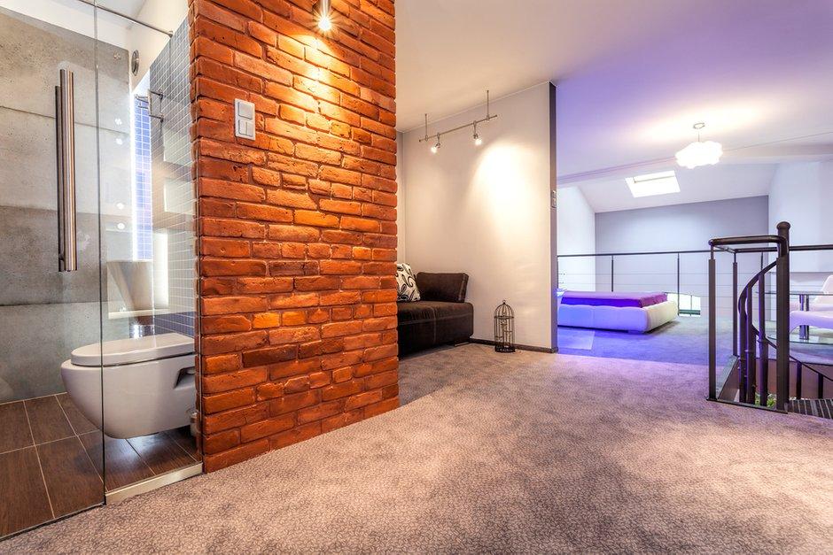 Фотография: Ванная в стиле Лофт, Современный, Декор интерьера, Квартира, Дом, Декор дома, Стена – фото на INMYROOM