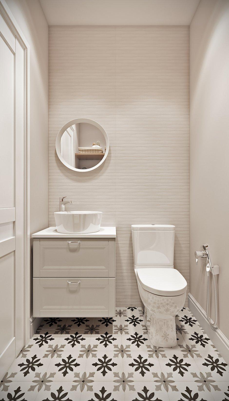 Фотография: Ванная в стиле Современный, Квартира, Проект недели, Co:Interior, Монолитный дом, 2 комнаты, 60-90 метров, Южно-Сахалинск – фото на INMYROOM