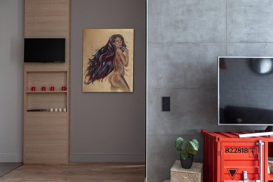 Фотография: Гостиная в стиле Современный, Квартира, Проект недели, Москва, Монолитный дом, Надежда Требухина – фото на INMYROOM