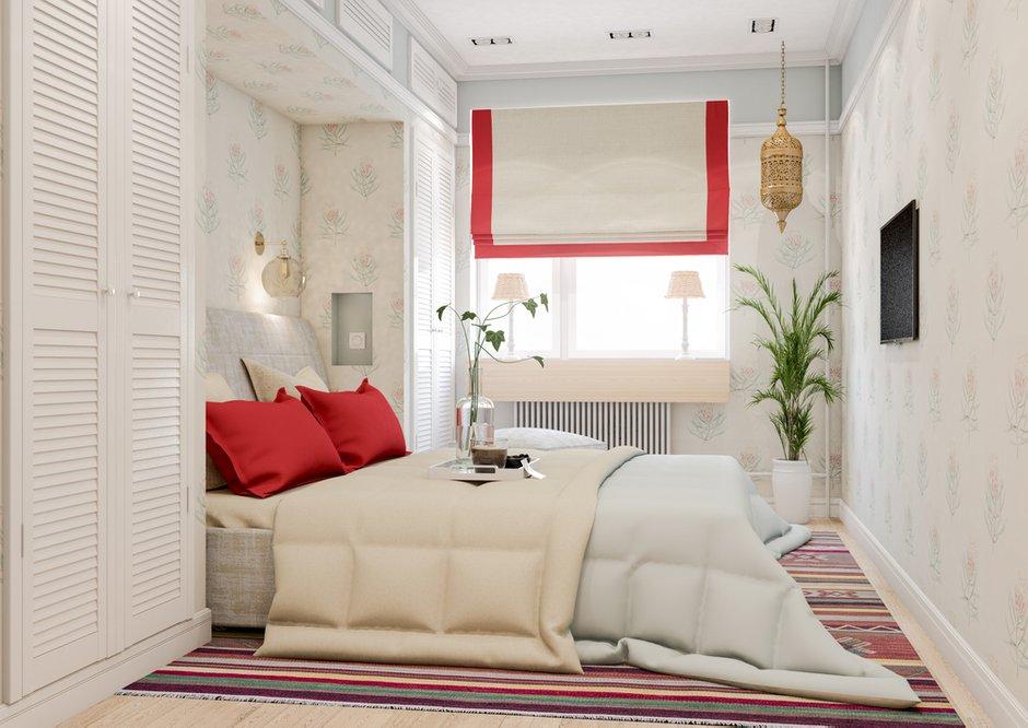 Фотография: Спальня в стиле Современный, Квартира, Проект недели, Марина Саркисян, Московская область, 3 комнаты, 60-90 метров, Монолитно-кирпичный – фото на INMYROOM