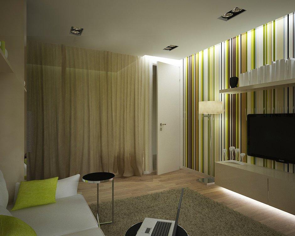 Фотография: Гостиная в стиле Современный, Малогабаритная квартира, Квартира, Дома и квартиры, Проект недели, Москва – фото на INMYROOM