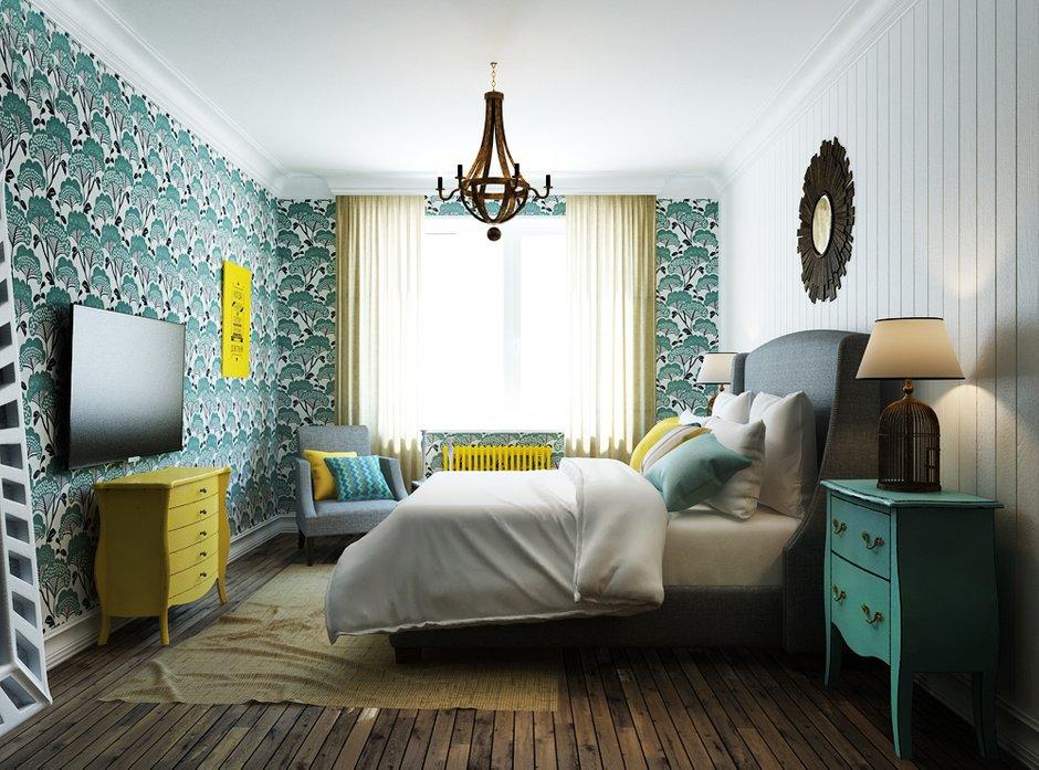 Фотография: Спальня в стиле Прованс и Кантри, Эклектика, Квартира, Проект недели, Эко – фото на INMYROOM