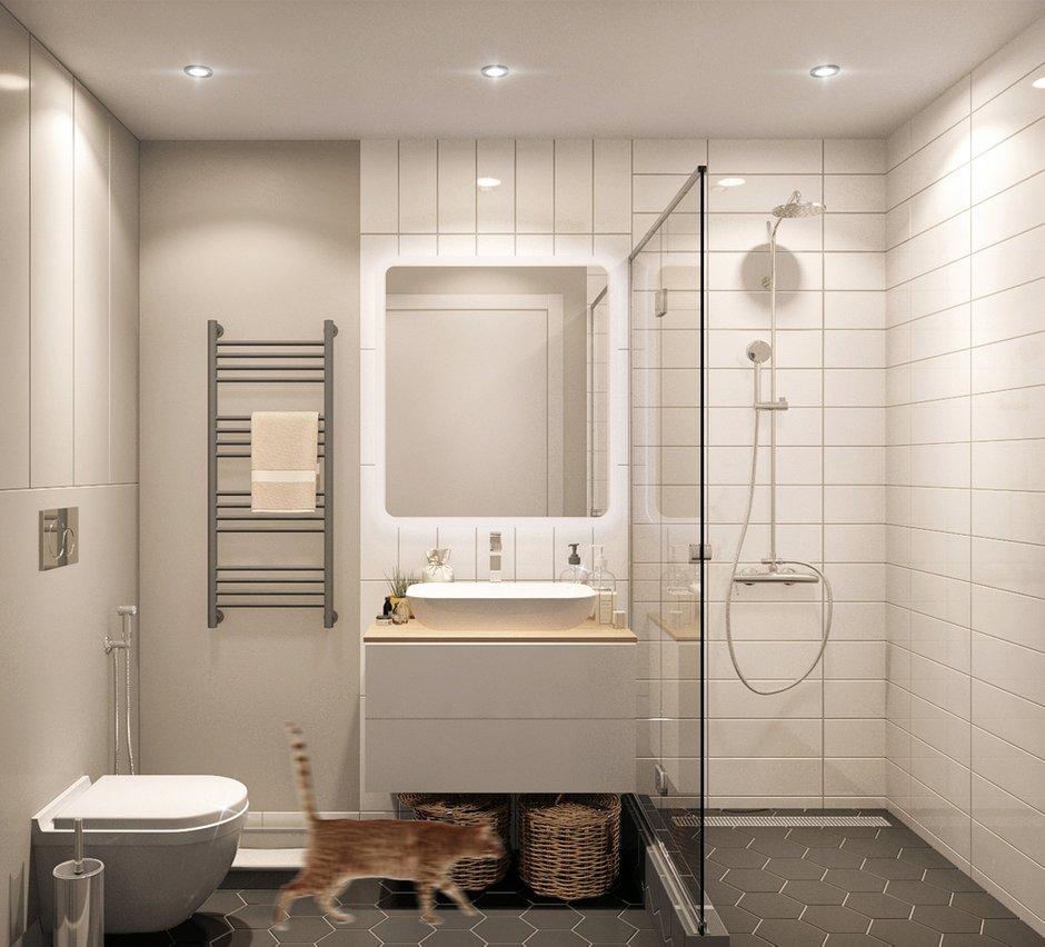 Фотография: Ванная в стиле Современный, Квартира, Проект недели, Санкт-Петербург, Более 90 метров, Projector Studio – фото на INMYROOM