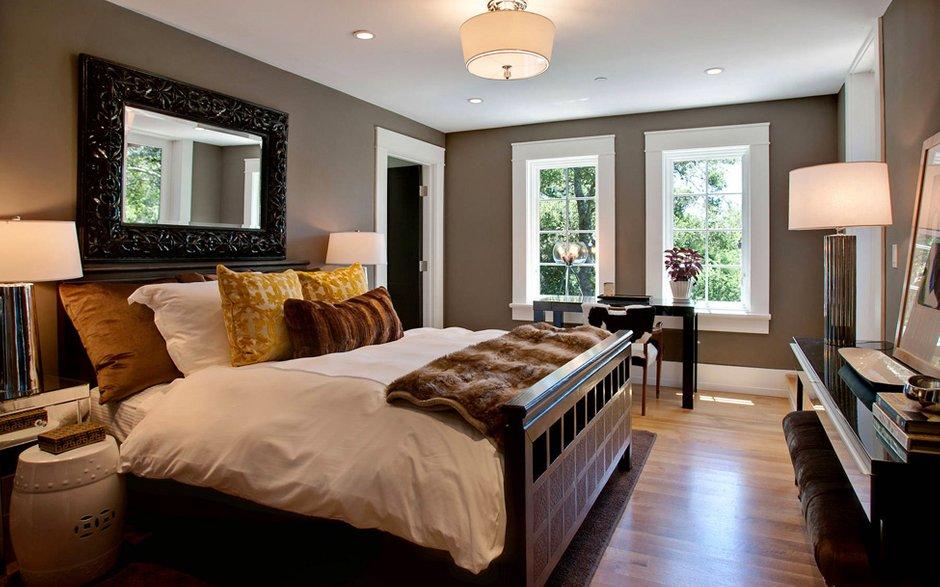 Фотография: Спальня в стиле Современный, Дом, Терраса, Дома и квартиры, Бассейн, Калифорния – фото на INMYROOM