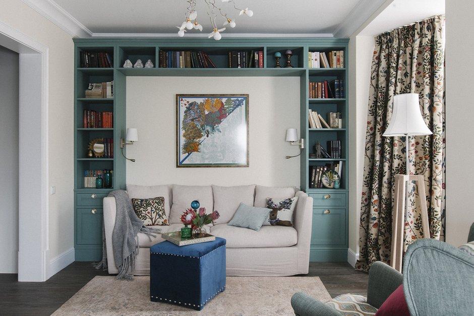 Фотография: Гостиная в стиле Классический, Квартира, Проект недели, Химки, Инна Величко, 3 комнаты, 60-90 метров – фото на INMYROOM
